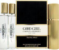 Image of Carolina Herrera Good Girl Gift Set 1 x 20ml EDP Travel Spray + 2 x 20ml EDP Refills
