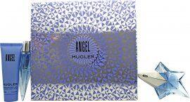 Thierry Mugler Angel Gift Set 25ml Refillable EDP + 50ml Body Lotion + 10ml EDP Refillable Purse Spray
