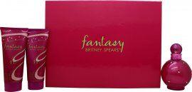 Britney Spears Fantasy Gift Set 100ml EDP + 50ml Shower Gel + 50ml Body Souffle
