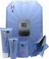 Thierry Mugler Angel 25ml EDP Refillable + 100ml Body Lotion + 30ml Shower Gel + 10ml Body Cream