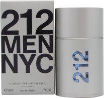 Image of Carolina Herrera 212 Men Eau De Toilette 50ml Suihke