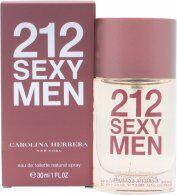 Image of Carolina Herrera 212 Sexy Men Eau De Toilette 30ml Suihke