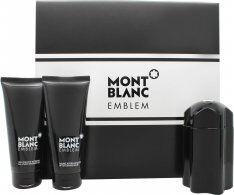 Mont Blanc Emblem Gift Set 100ml EDT + 100ml A/Shave Balm + 100ml Shower Gel