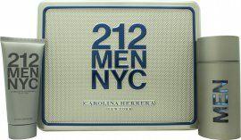 Image of Carolina Herrera 212 Men Gift Set 100ml EDT + 100ml Shower Gel