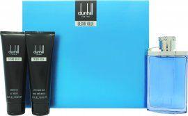 Dunhill Desire Blue Gift Set 100ml EDT + 90ml Shower Gel + 90ml Aftershave Balm