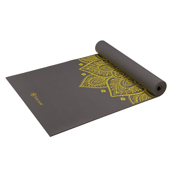 Gaiam Citron Sundial Yoga Mat 5MM  - Size: One Size