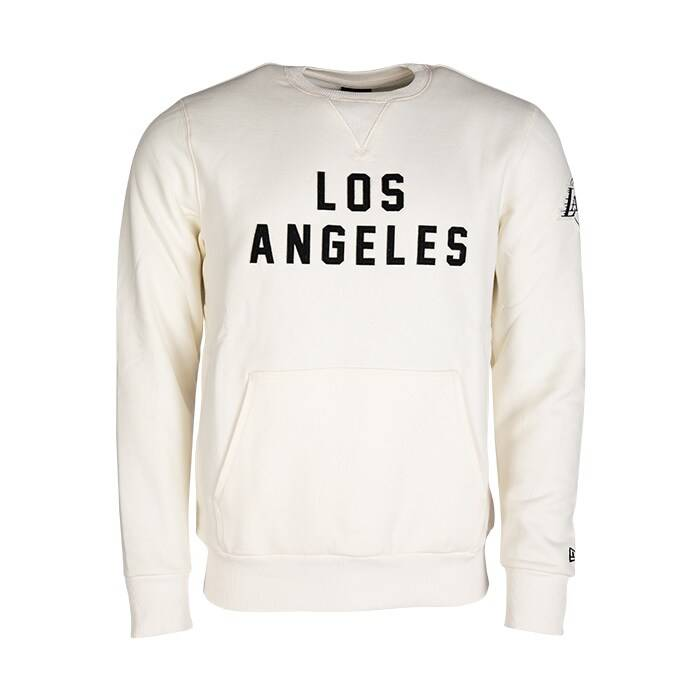 New Era NBA Wordmark Crew Los Angeles Lakers, Off White  - Size: Large