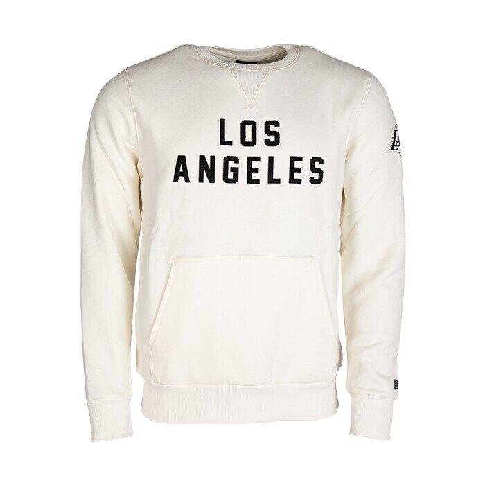 New Era NBA Wordmark Crew Los Angeles Lakers, Off White  - Size: Medium