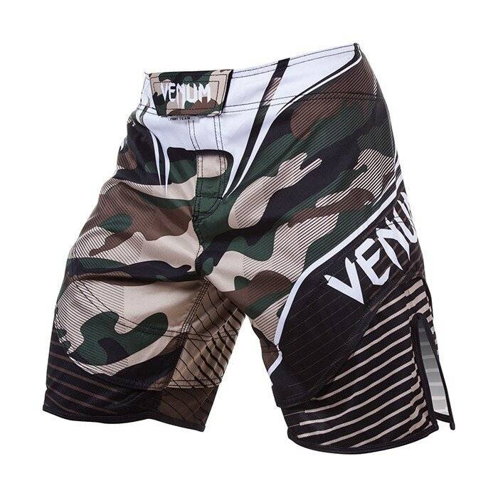 Venum Camo Hero Fight Shorts, Green/Brown  - Size: Small