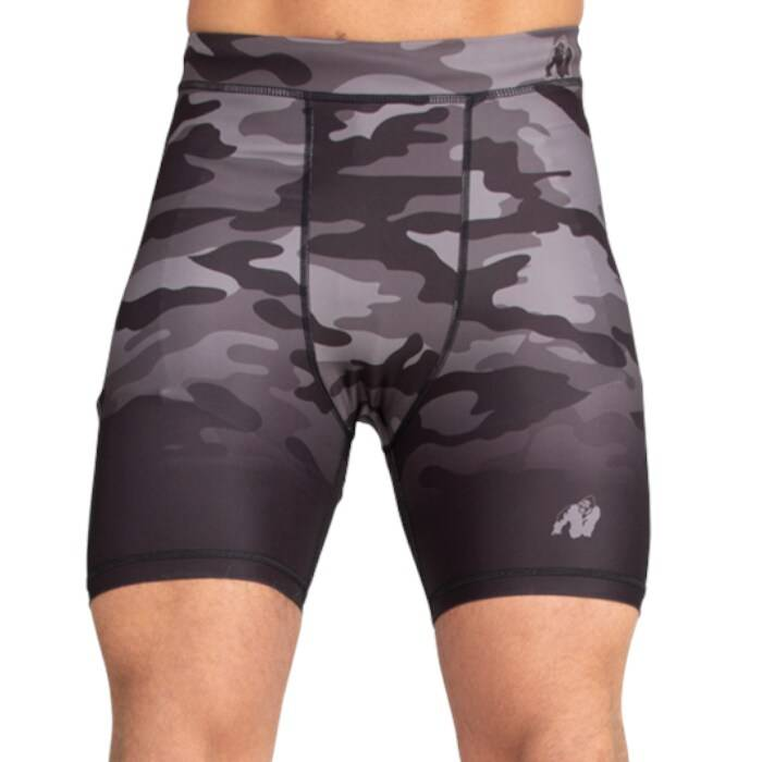 Gorilla Wear Franklin Shorts, Black/Gray Camo  - Size: Extra Large