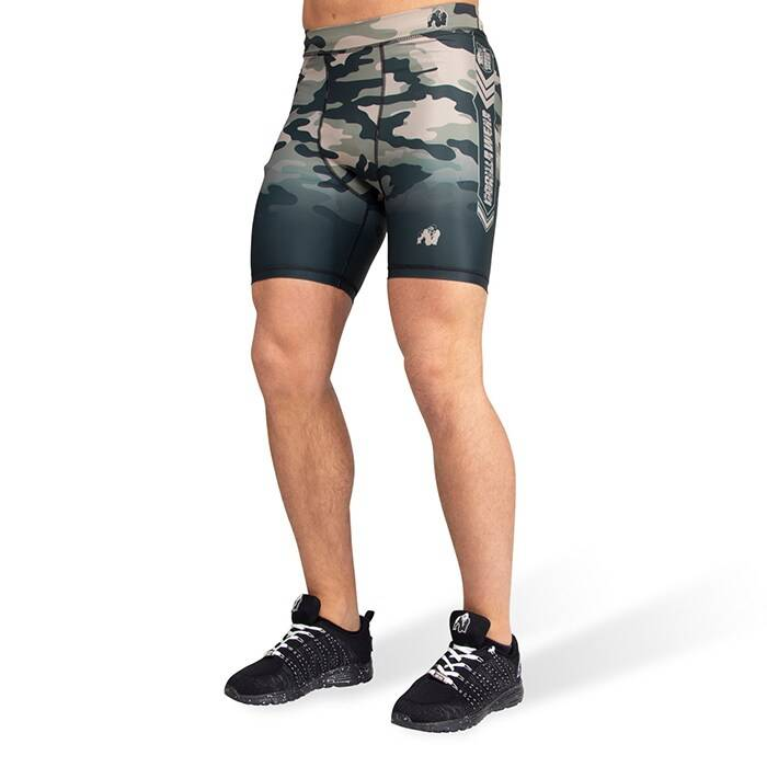 Gorilla Wear Franklin Shorts, Army Green Camo  - Size: Extra Large