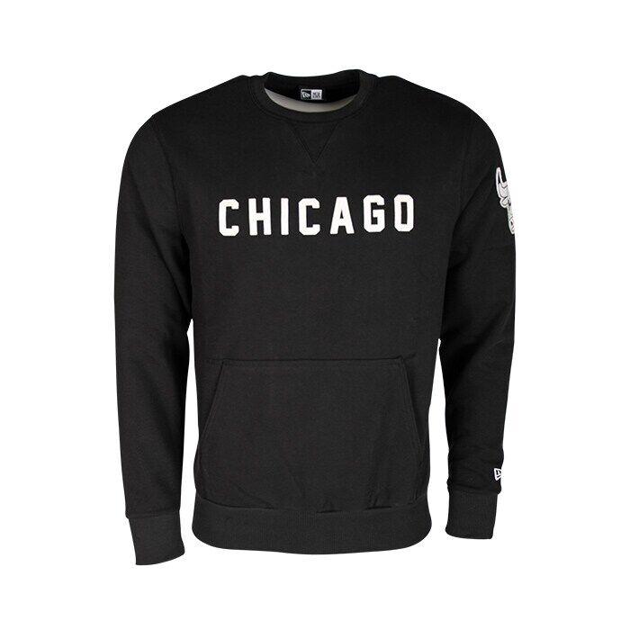 New Era NBA Wordmark Crew Chicago Bulls, Black  - Size: Small