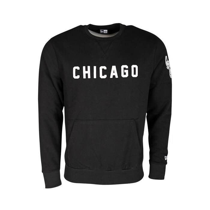 New Era NBA Wordmark Crew Chicago Bulls, Black  - Size: Extra Large