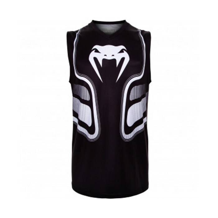 Venum Tempest 2.0 Dry Tech Tank Top, Black/White  - Size: Large