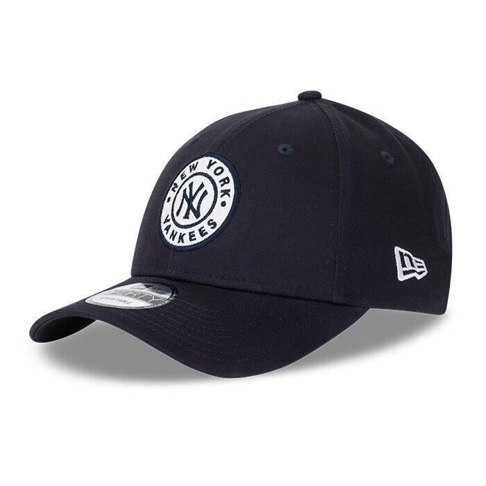 New Era Circle Patch 940 New York Yankees, Navy/White  - Size: One Size