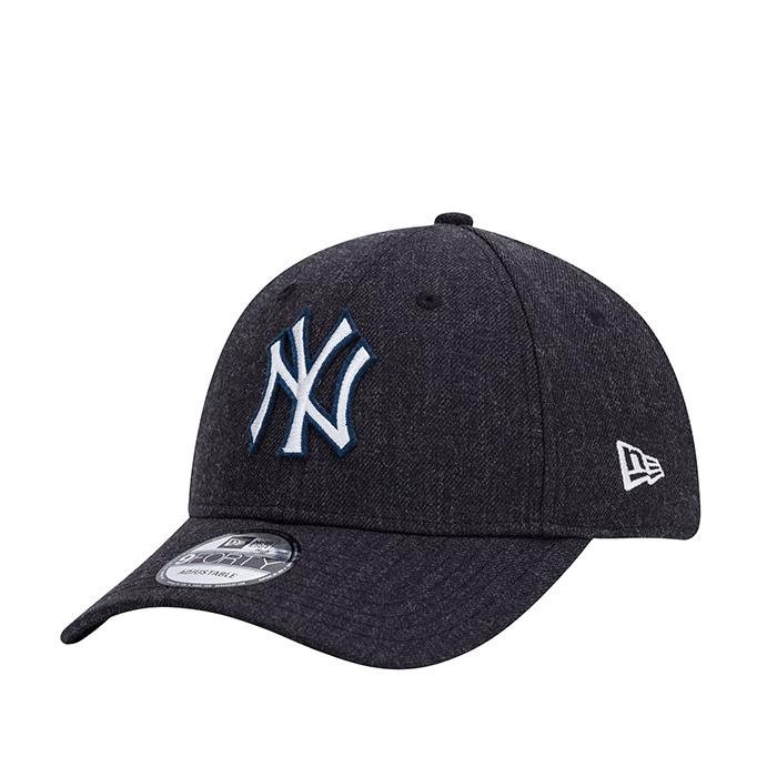 New Era 940 Heather Twill New York Yankees, Navy  - Size: One Size
