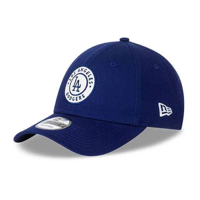 New Era Circle Patch 940 Los Angeles Dodgers, Blue/White  - Size: One Size