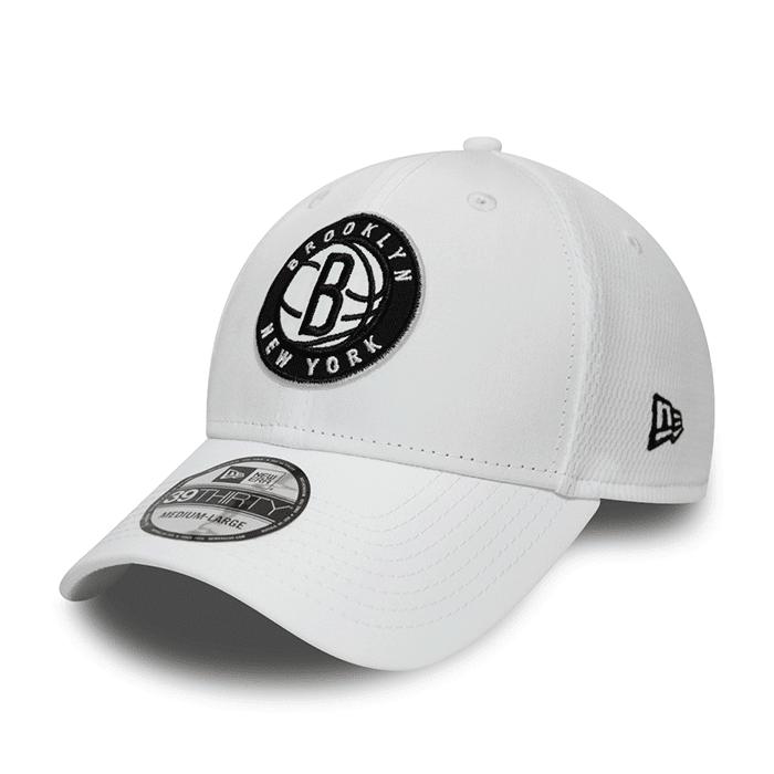 New Era NBA Dashback 39THIRTY Brooklyn Nets, White  - Size: Medium