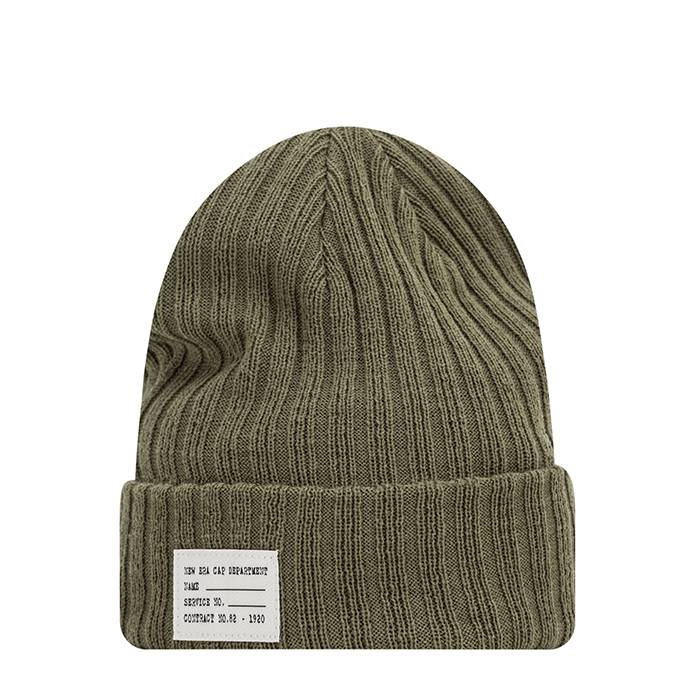 New Era Ribbed NYC Patch Cuff, Olive  - Size: One Size
