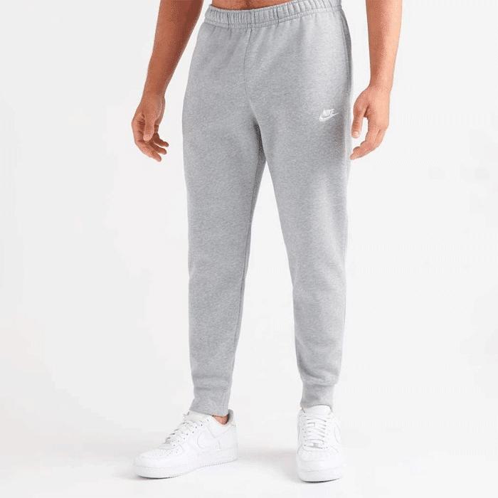 Nike Sportswear Club Fleece, Dark Grey Heather/Matte Silver  - Size: Large