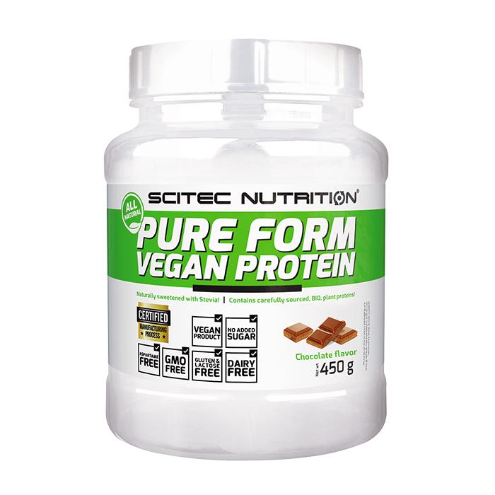 Scitec Nutrition Pure Form Vegan Protein, 450 g  - Size: No Size