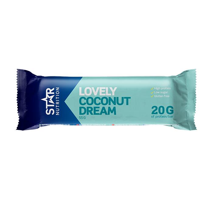 Star Nutrition Protein Bar, 55g, Coconut - Lyhyt Päivämäärä  - Size: One Size
