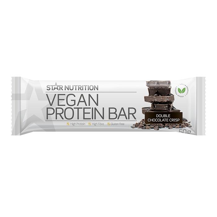 Star Nutrition Vegan Protein bar, 50 g, Double chocolate crisp, LYHYT PÄIVÄMÄÄRÄ  - Size: One Size