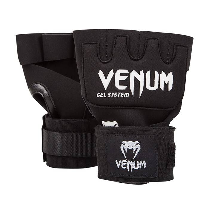 Venum Kontact Gel Glove Wraps, Black  - Size: One Size