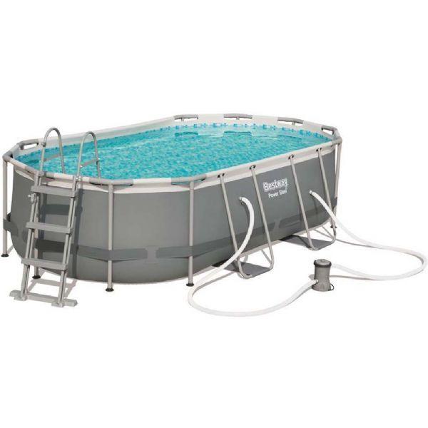 Bestway Power Steel pool 7.250L 424x250x100 cm - Bestway uima-allas 56620