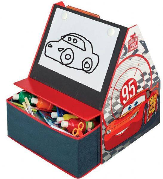 Worlds Apart Cars hylly ja liitutaulu - Disney Biler Lasten huonekalut 651469