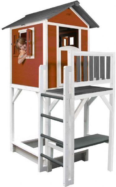 Sunny Lodge XXL leikkimökki punainen - Sunny Play house ja torni 9321