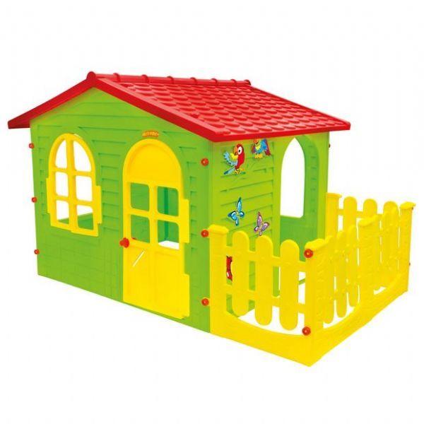 Leikkimökki XL aidalla Little Toys - Leikkimökki 001023