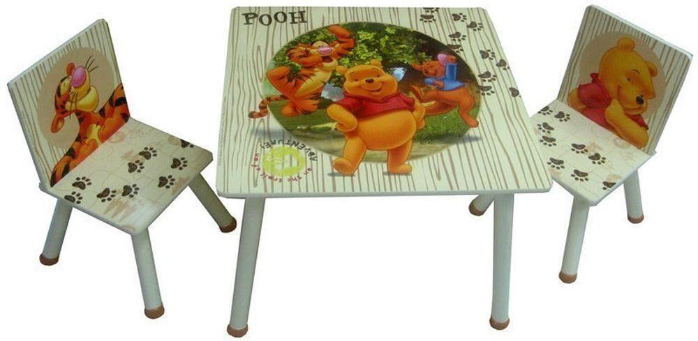 Nalle Puh pöytä ja tuolit - Nalle Puh lasten huonekalut 56