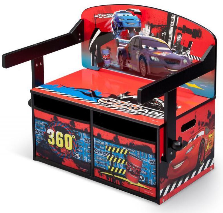 Cars 3-in-1 säilytyspenkki ja kirjoituspöytä - Disney Lynet McQueen lasten huonekalut 304318
