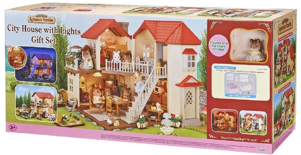 Sylvanian Families Kaupunkitalo ja figuuri - Sylvanian talo 3646