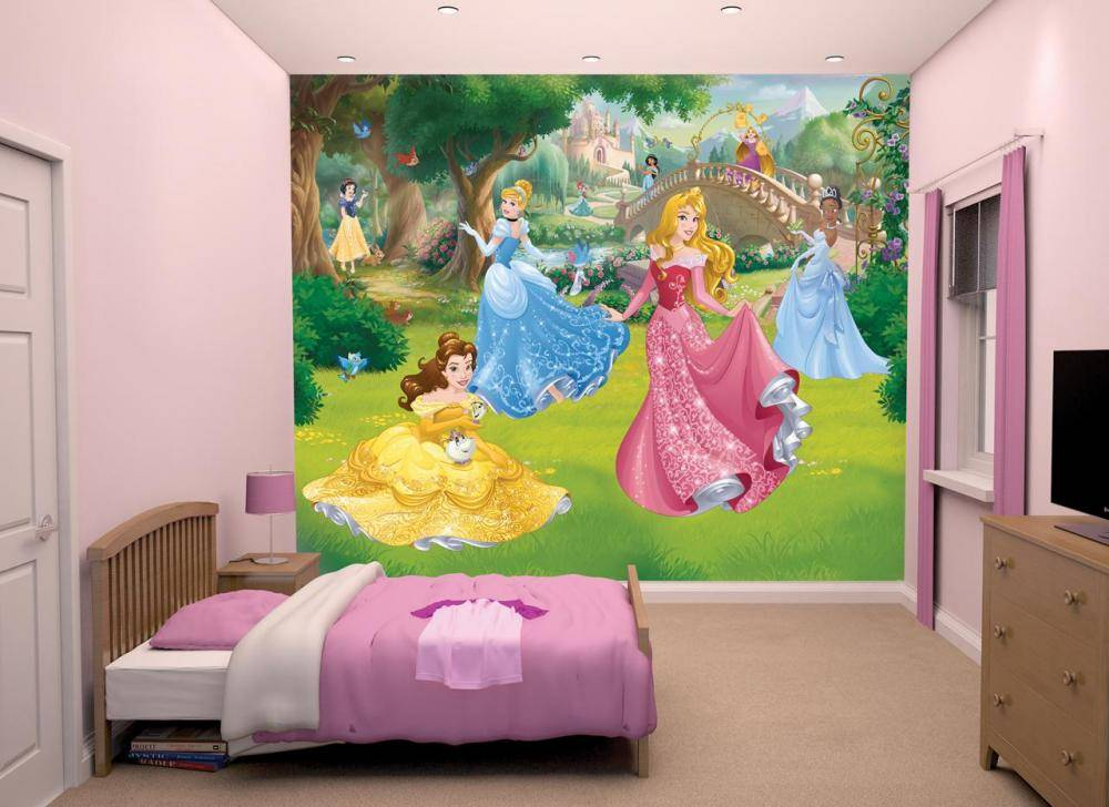 Disney Princess tapetti - Walltastic Disney Prinsessat 43800