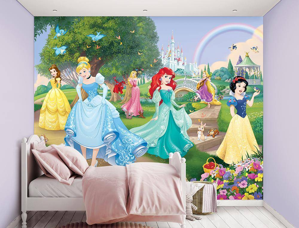 Disney Princess tapetti - Walltastic Disney Prinsessat 45354