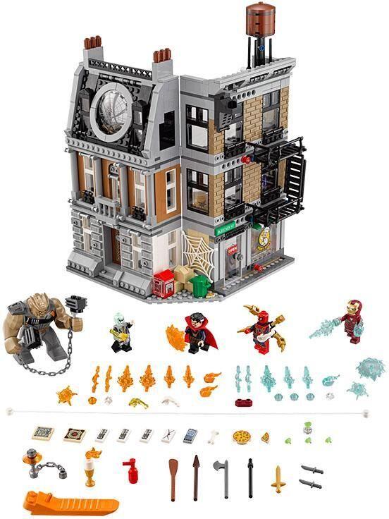 Lego Showdown tri Strange n Sanctum - LEGO Super Heroes 76108
