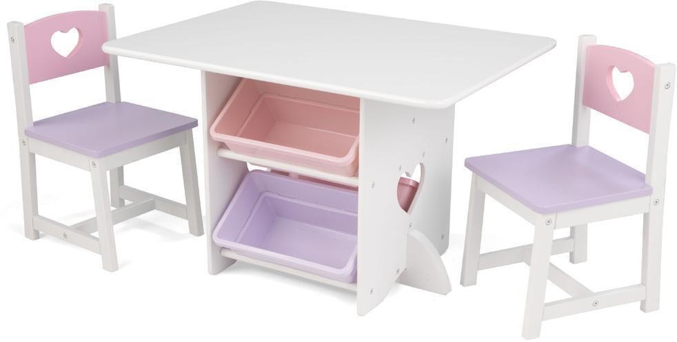 Kidkraft Sydän leikkipöytä ja kaksi tuolia - Kidkraft Lasten huonekalut 26913