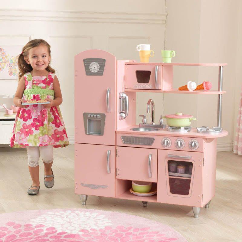 Kidkraft Leikkikeittiö Pink Vintage - Kidkraft Keittiö 53179