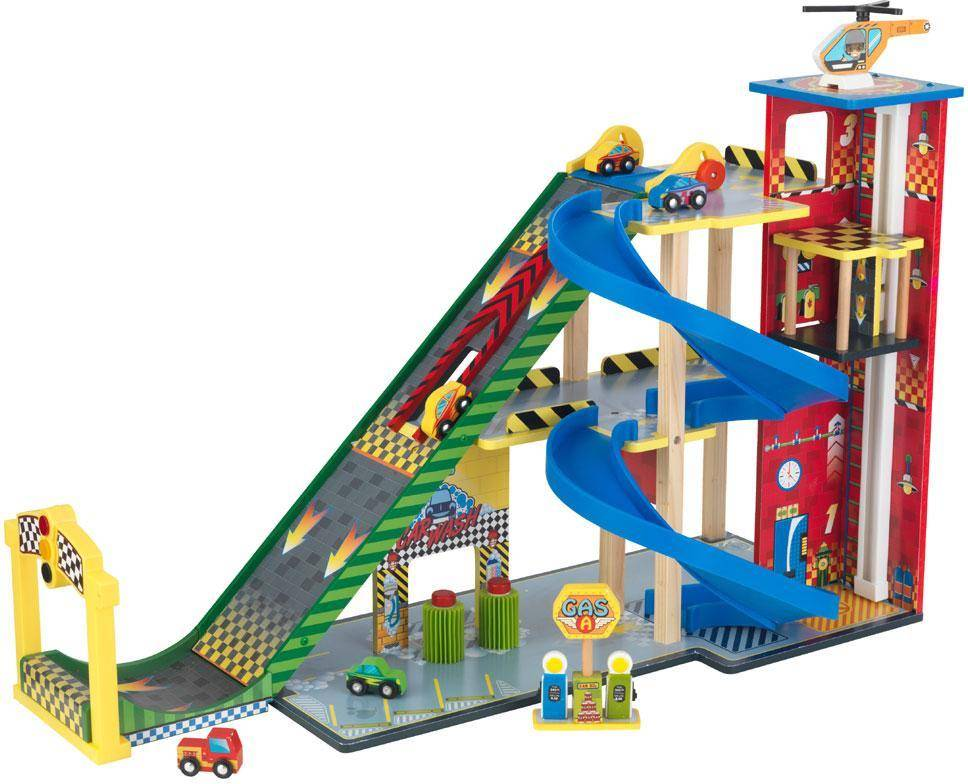 Kidkraft Mega Ramp Racing Autotalli - Kidkraft Autotallit ja tiet 63267