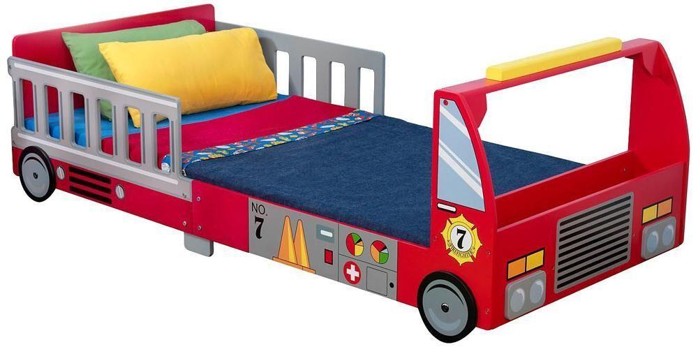 Kidkraft Paloauto Juniorisänky 140 x 70 cm / Fire Truck Toddler Cot - Paloautosänky lastensänky 76031