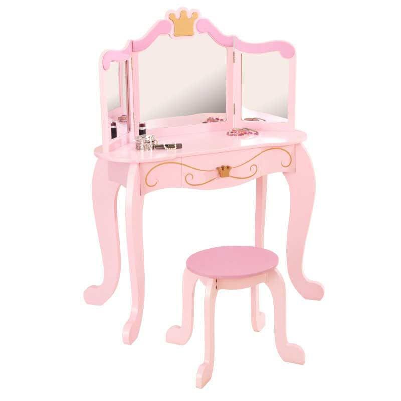 Kidkraft Prinsessa meikkauspöytä ja jakkara - Kidkraft Lasten huonekalut 76123