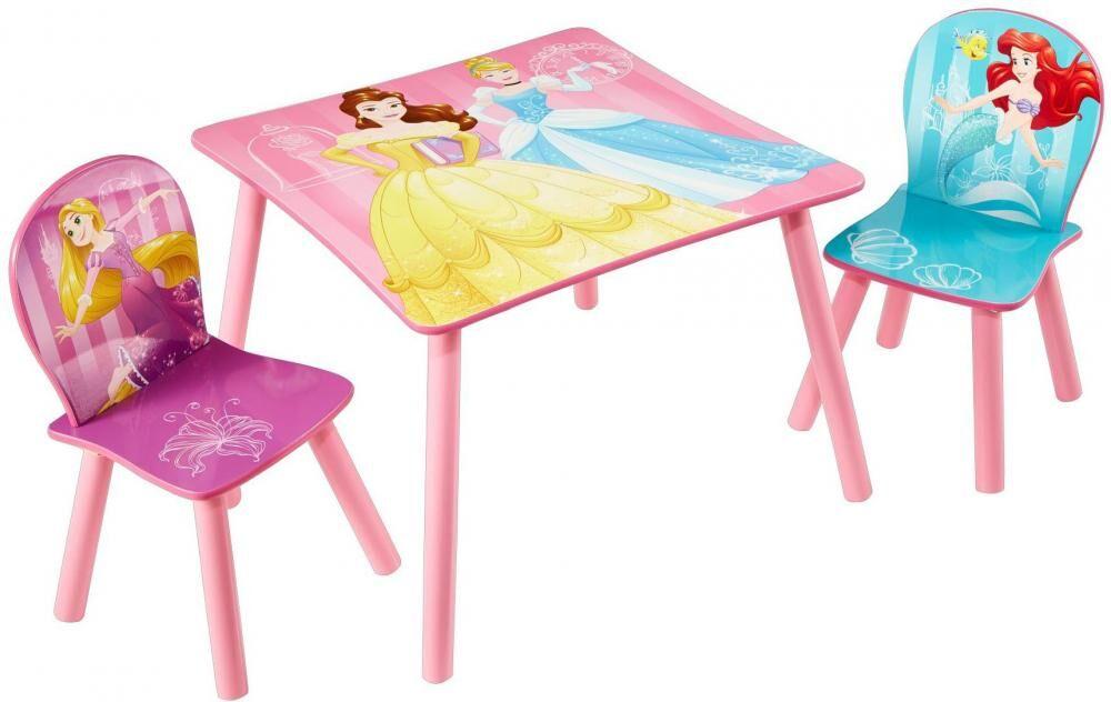 Worlds Apart Disney Prinsessat pöytä ja tuolit - Disney Prinsessa huonekalut 661628