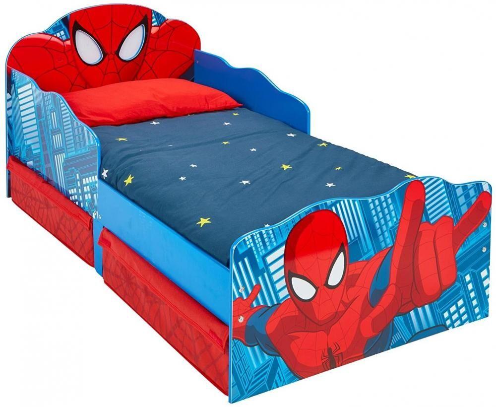Worlds Apart Spider-Man juniorsänky syttyvät silmät, ilman patjaa - Spiderman huonekalut 663554