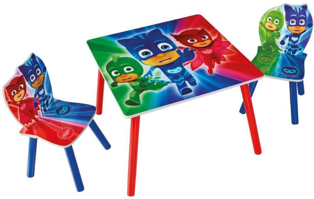 Worlds Apart PJ Masks pöytä ja tuolit - Pyjamasankarit lastenkalusteet 665565