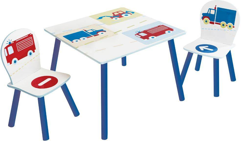Worlds Apart Pöytä ja tuolit setti Autot - Lasten huonekalut 668719