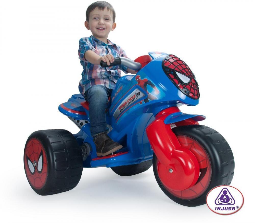 Injusa Spiderman Motorcykel 6V - Injusa Sähköauto 72960