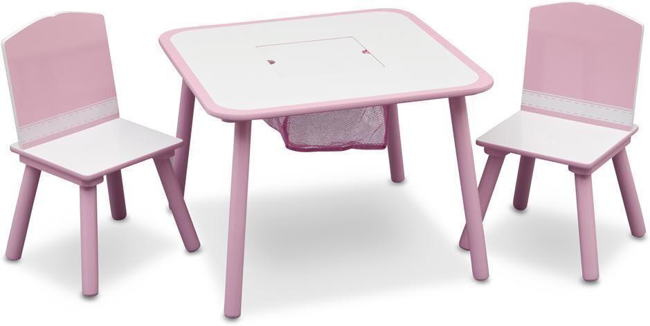 Sekalaiset Pöytä- ja tuolisetti - vaaleanpunainen - Pöydät ja tuolit 043537
