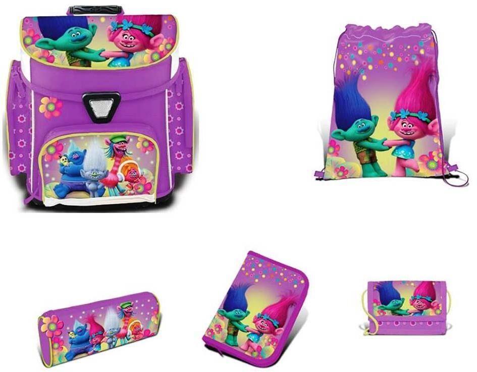 Trolls Koulureppusetti 5 osaa - Trolls koululaukku 759834